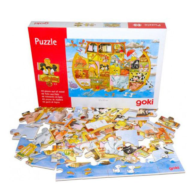 Puzzle en bois Arche de Noé (48 pièces)